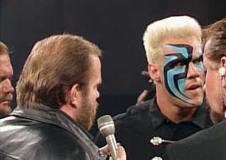 WCW Clash of the Champions X - Ole Anderson kicked Sting out of the Four Horsemen
