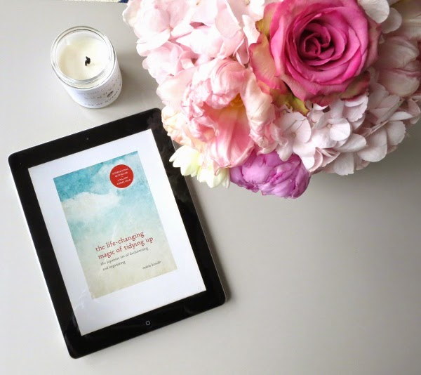 KonMari book on iPad