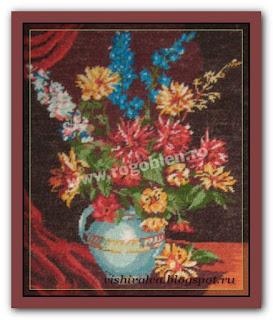 """Download embroidery scheme Rogoblen 7.10 """"Crysanthemum"""""""