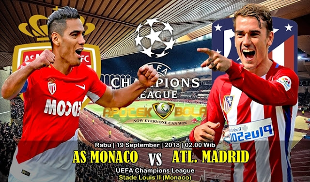 Prediksi Monaco Vs Atlético Madrid 19 September 2018