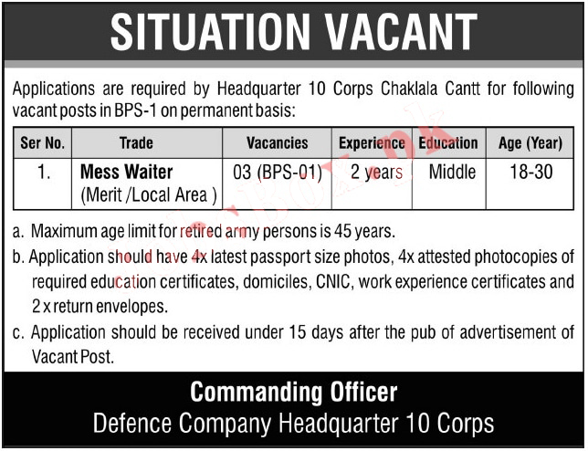 Join Pakistan Army Jobs 2021 for Civilians