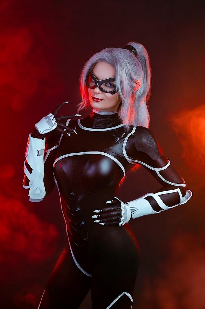 AgFlower con su cosplay de BlackCat