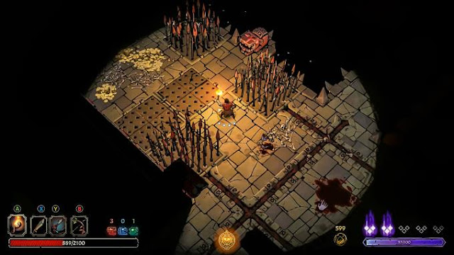 In Curse of the Dead Gods, you are looking for tremendous wealth, eternal life, and strength. Your mission led you to this damned temple in an endless maze of waiting for throttles, traps and bottomless monsters.