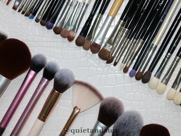 Jak prawidłowo dbać o pędzle do makijażu + moja cała kolekcja. Pędzle do makijażu #1.