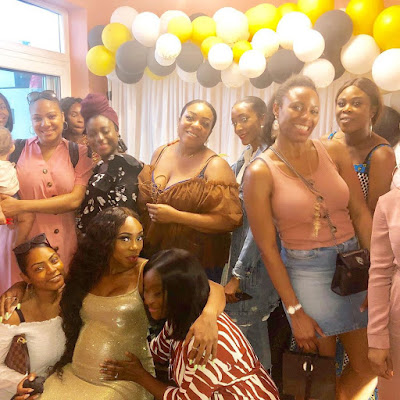 Maria Okan baby shower photos