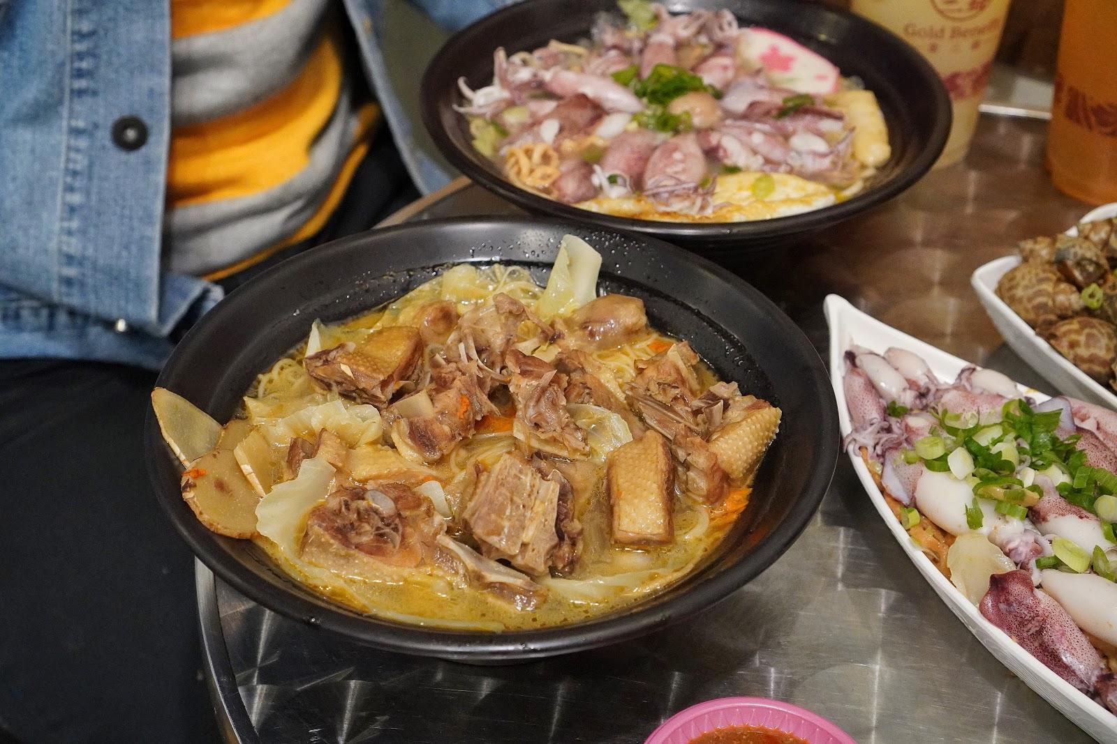 台南美食【金三益健康茶飲】薑母鴨麻油麵線