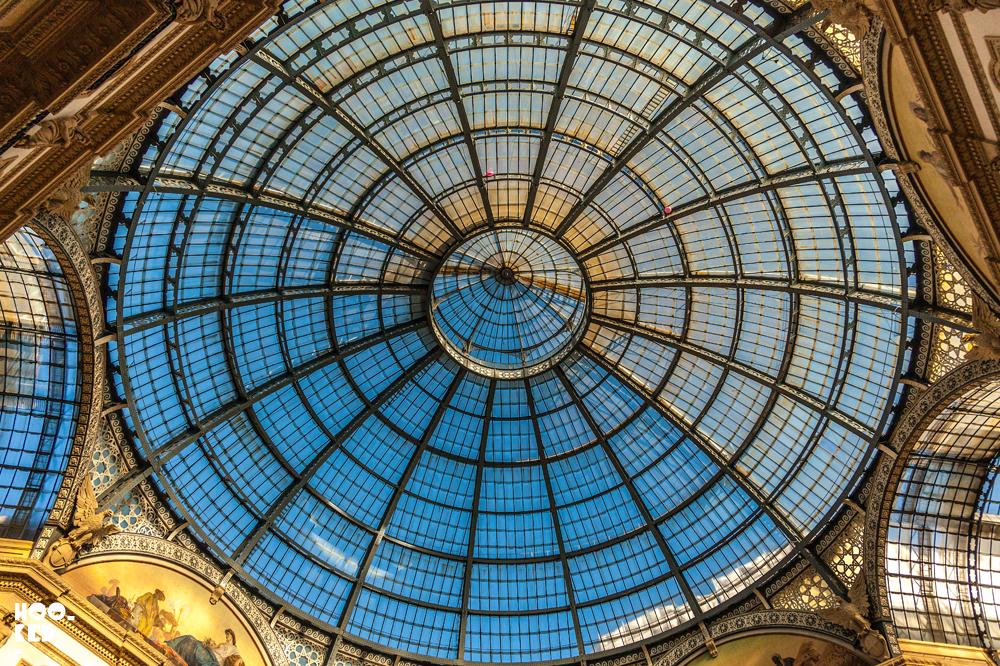 Galleria Vittorio Emanuele II roof in Milan, Italy