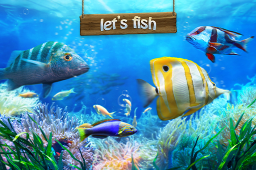 online free game html5 - LET'S FISH - simulation game