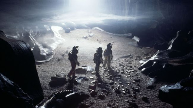 The astronauts on the planet surface in Alien