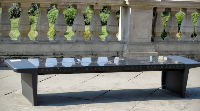 2-Days in Warsaw: Chopin music benches in Warsaw, Poland