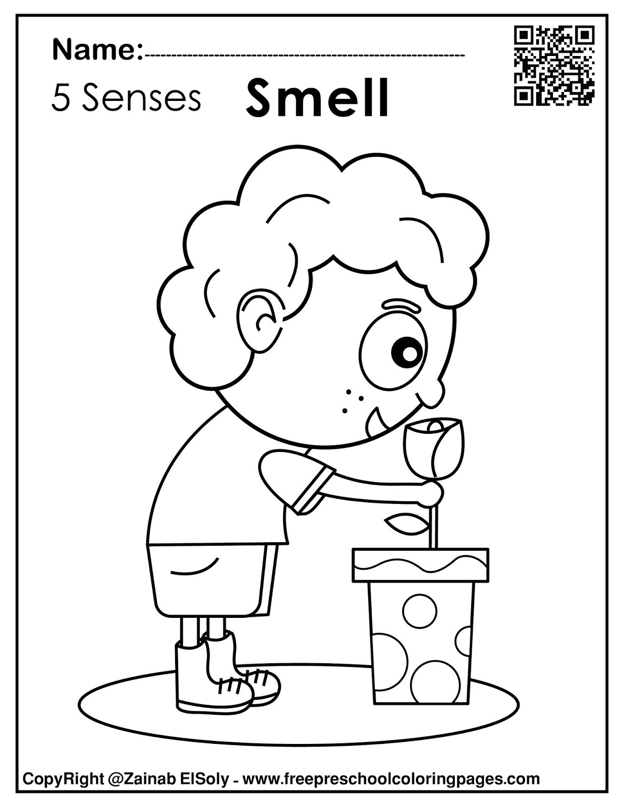 Set of 8 senses activities for kids