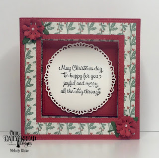 Our Daily Bread Designs Stamp Set: Christmas Card Verses, Custom Dies:  Diorama with Layers, Fancy Circles, Bitty Blooms, Leaves and Branches, Paper Collection: Christmas 2017