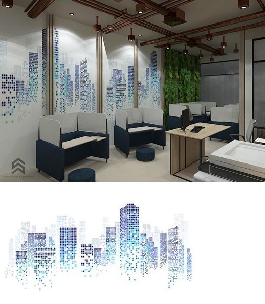 lukisan dinding kantor