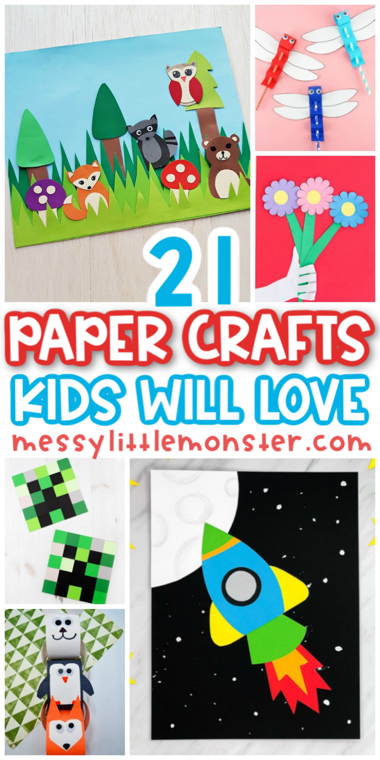 21+ fun and easy paper crafts kids will love