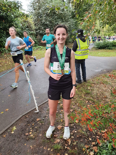Finishing Ealing Half Marathon