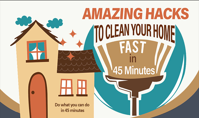 Amazing Hacks To Clean Your Home Fast In 45 Mints