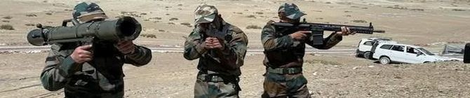 Indian Army Troops Get American, Swiss Rifles On China Border