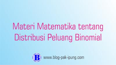materi matematika peminatan kelas xii