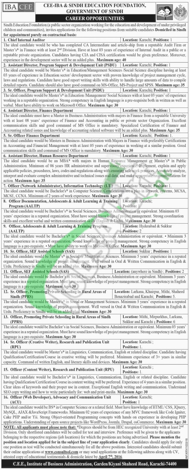 Tips For Get Jobs: Sindh-Education-Foundation-Jobs