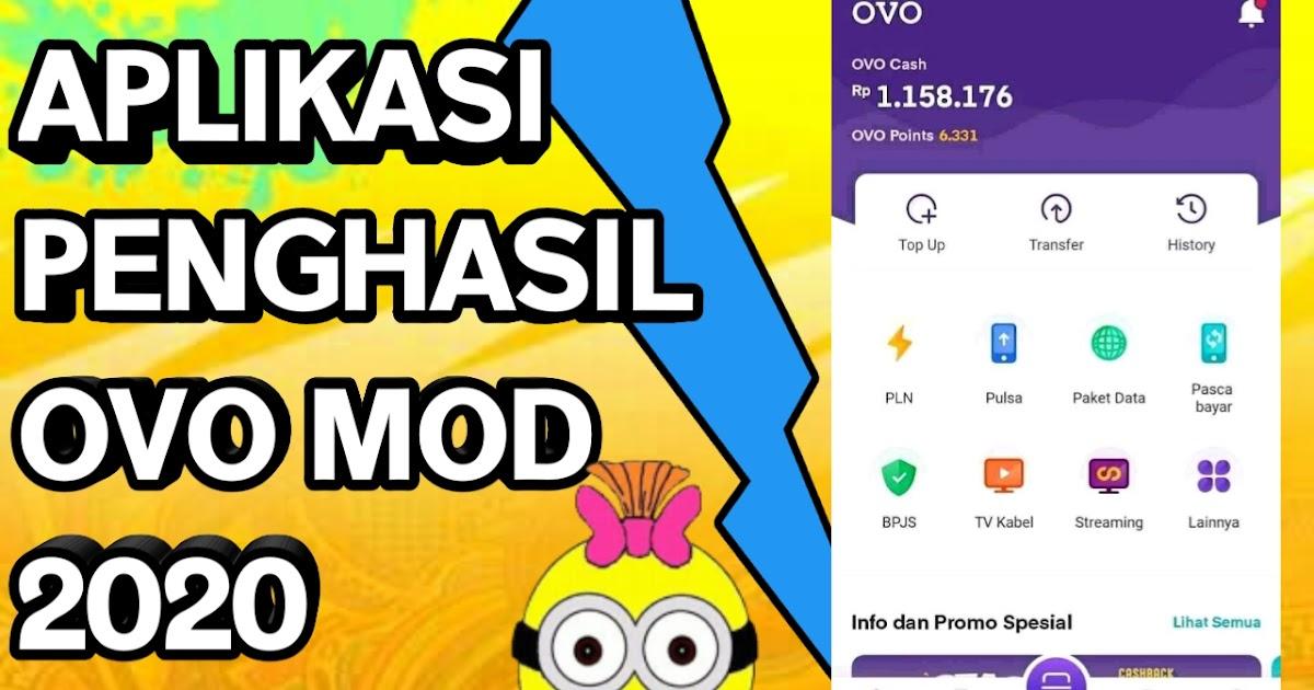 Download Aplikasi Penghasil Ovo Mod Unlimited 2020 Gratis Pulsa Mod