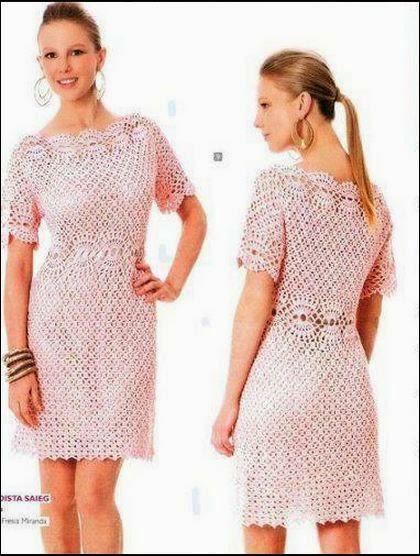 Vestido corto dama crochet
