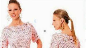 Lindo y elegante vestido al crochet