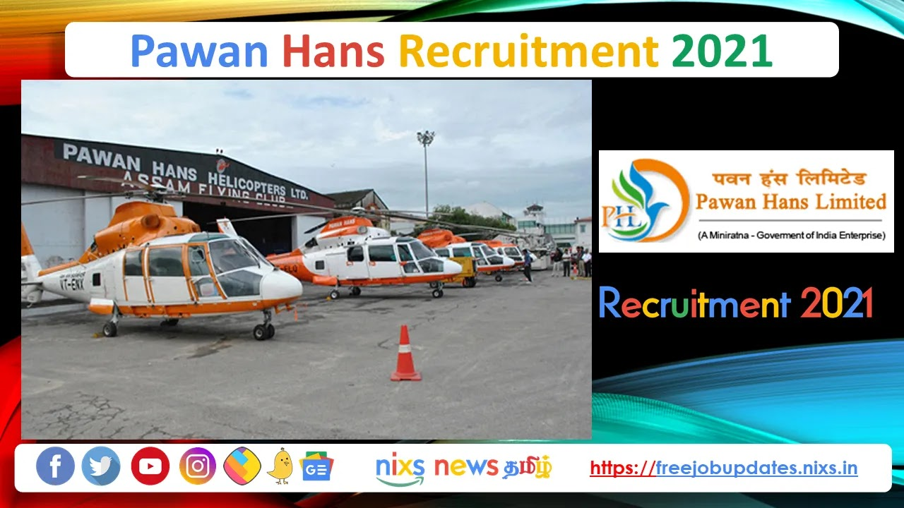 Pawan Hans Recruitment 2021 28 Trainee Technician Posts - Apply Online
