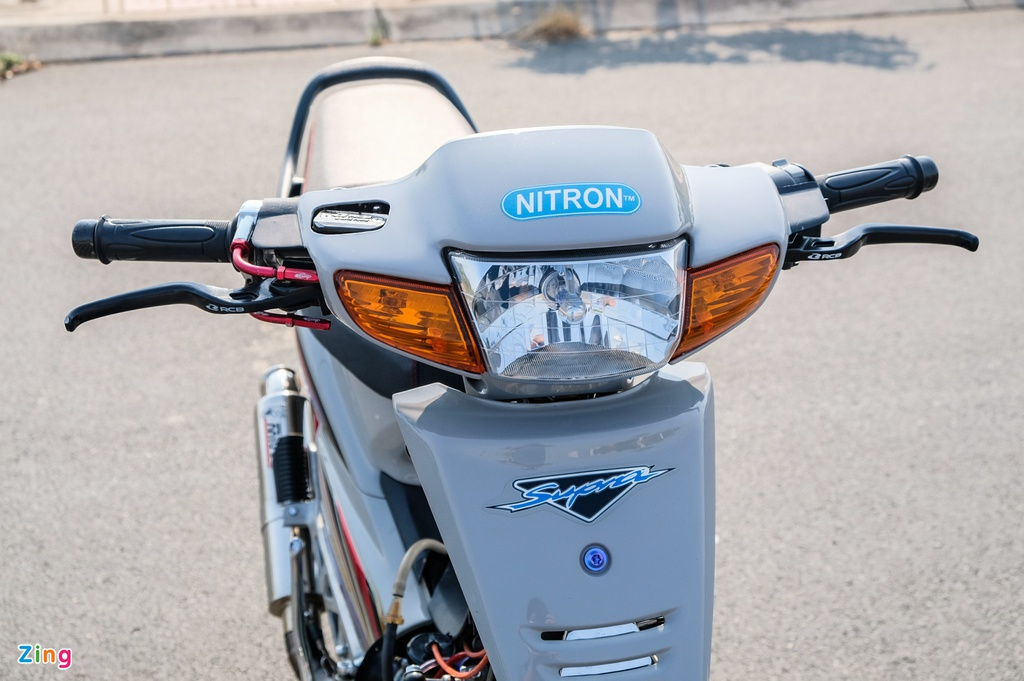Honda Wave nâng cấp thành xe côn tay và động cơ 190 cc tại Vĩnh Long