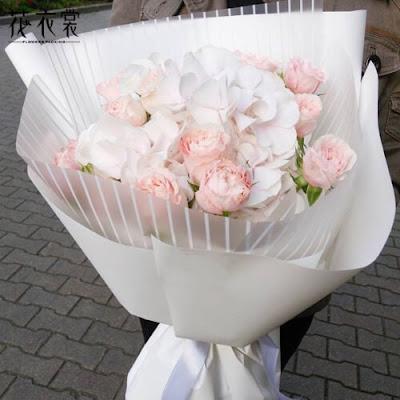 Kertas Buket Bunga / Flower Bouquet Wrapping Paper (Seri WM Garis)