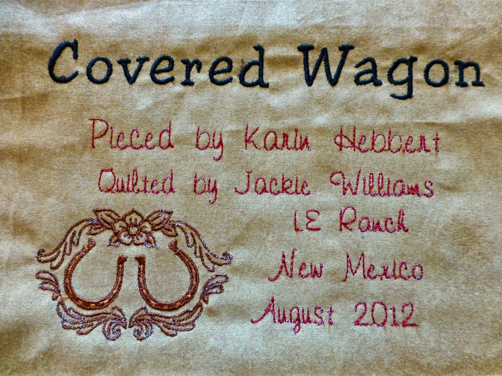It Is Our Covered Wagon Quilt, So Named Because A Friend (hi Saska!) Said  It Was Big Enough To Cover A Covered Wagon I Am Thinking Of Embroidering  Our
