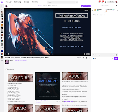 THE TWITCH CHANNEL PAGE