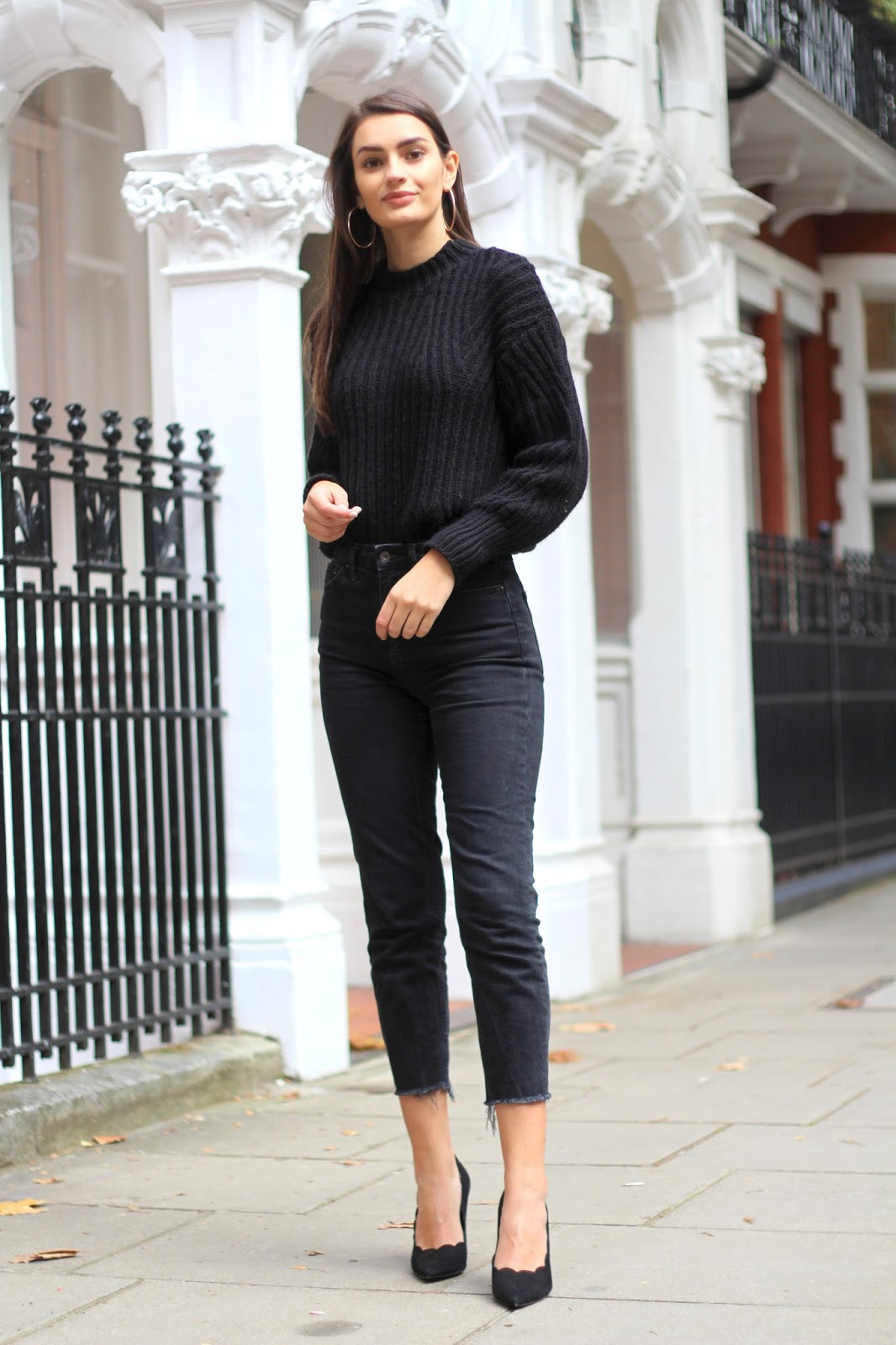 peexo fashion blogger all black