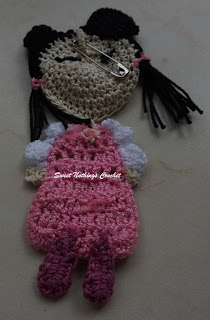 free crochet girl applique pattern