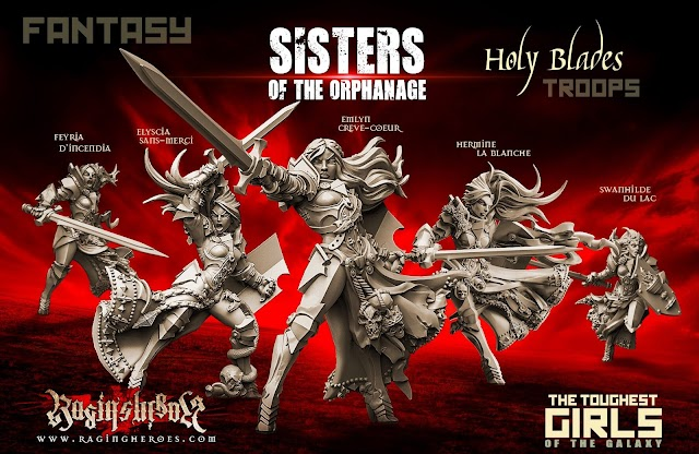 Raging Heroes New Sister Models Out Now.