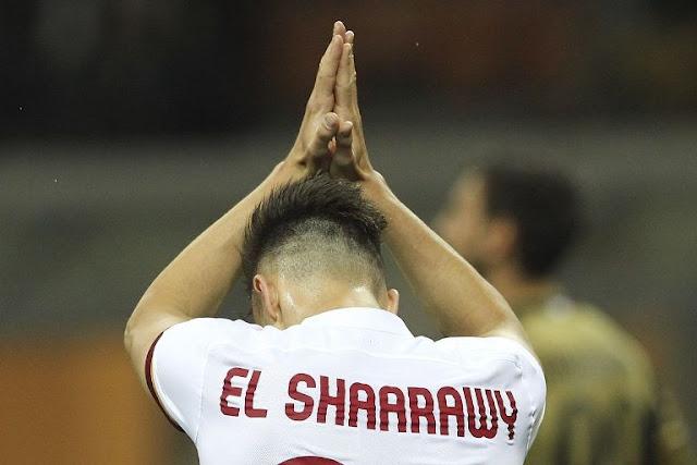 Stephan El Shaarawy Roma gol ke gawang Milan
