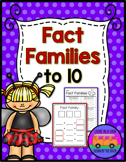 FACT FAMILIES, ADDITION TO 10, SUBTRACTION TO TEN