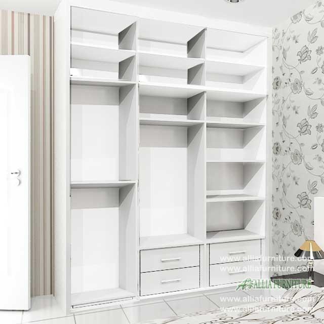 lemari minimalis unit 3 pintu sliding model NZ