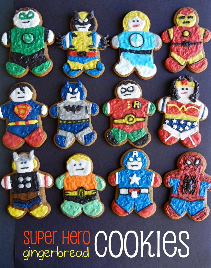 Sugar Swings Serve Some Super Hero Gingerbread Men And