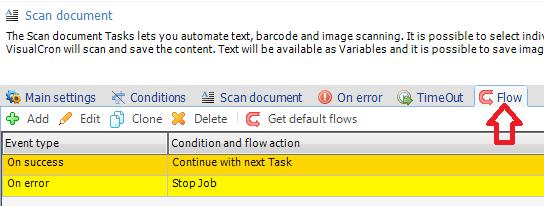 VisualCron: Escanear documento con OCR