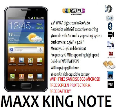 MAXX Mobile KING Note