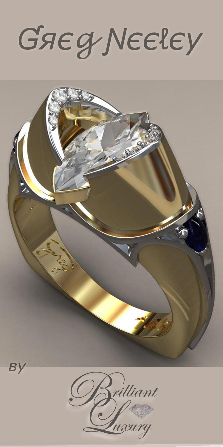 Brilliant Luxury ♦ Greg Neeley medieval marquis wedding ring