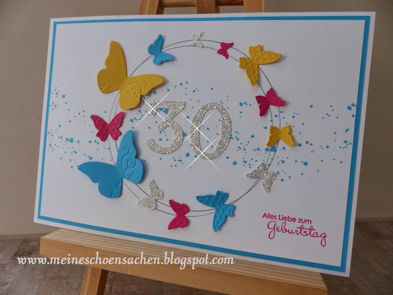 Meine Schönsachen Geburtstagskarte Zum 30 Geburtstag