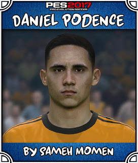 PES 2017 Faces Daniel Podence by Sameh Momen