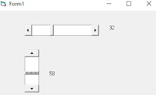 Contoh HScrollBar dan VScrollBar Visual Basic 6.0