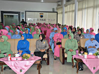 Ratusan Ibu-ibu Gabungan Istri Prajurit TNI dan Polri, Disosialisasi Deteksi Kanker Sejak Dini (SADARI)