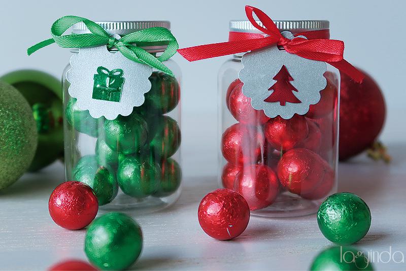 detalles navideños bolitas chocolate