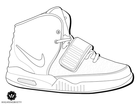 sneakerhead coloring book pages | L'actu des Sneakers: Coloriez votre propre Air Yeezy II