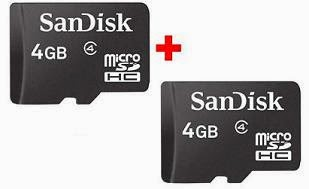Combo Of 2 Sandisk Micro SD Memory Card 4 GB for Rs.299 Only With Free Shipping (5 Years Warranty)
