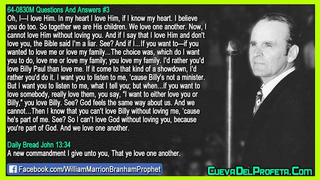 Because you are part of God - William Branham Quotes