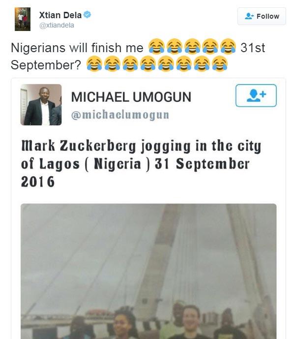 Kenyan TV presenter Xtian Dela roasts Nigerians over Mark Zuckerberg visit